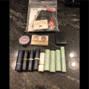 Collection of lipstick and eyeshadow